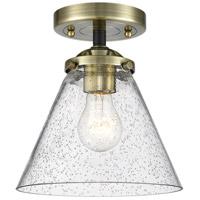 Innovations Lighting 284-1C-BAB-G44 Large Cone 1 Light 8 inch Black Antique Brass Semi-Flush Mount Ceiling Light Nouveau