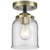 Innovations Lighting 284-1C-BAB-G52 Small Bell 1 Light 5 inch Black Antique Brass Semi-Flush Mount Ceiling Light Nouveau