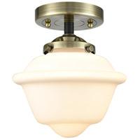 Innovations Lighting 284-1C-BAB-G531 Small Oxford 1 Light 8 inch Black Antique Brass Semi-Flush Mount Ceiling Light Nouveau