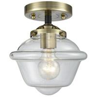 Innovations Lighting 284-1C-BAB-G532-LED Small Oxford LED 8 inch Black Antique Brass Semi-Flush Mount Ceiling Light, Nouveau