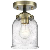 Innovations Lighting 284-1C-BAB-G54 Small Bell 1 Light 5 inch Black Antique Brass Semi-Flush Mount Ceiling Light Nouveau