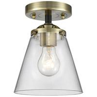 Innovations Lighting 284-1C-BAB-G62 Small Cone 1 Light 6 inch Black Antique Brass Semi-Flush Mount Ceiling Light Nouveau