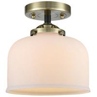 Innovations Lighting 284-1C-BAB-G71-LED Large Bell LED 8 inch Black Antique Brass Semi-Flush Mount Ceiling Light Nouveau