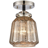 Innovations Lighting 284-1C-BPN-G146-LED Chatham LED 6 inch Black Polished Nickel Semi-Flush Mount Ceiling Light Nouveau