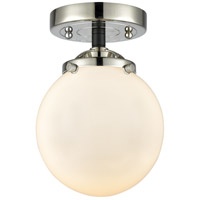 Innovations Lighting 284-1C-BPN-G201-6 Beacon 1 Light 6 inch Black Polished Nickel Semi-Flush Mount Ceiling Light