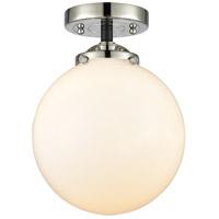 Innovations Lighting 284-1C-BPN-G201-8 Large Beacon 1 Light 8 inch Black Polished Nickel Semi-Flush Mount Ceiling Light Nouveau