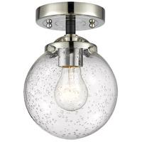 Innovations Lighting 284-1C-BPN-G204-6 Beacon 1 Light 6 inch Black Polished Nickel Semi-Flush Mount Ceiling Light Nouveau