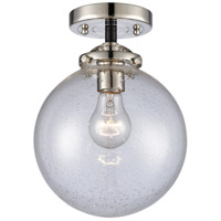 Innovations Lighting 284-1C-BPN-G204-8 Beacon 1 Light 8 inch Black Polished Nickel Semi-Flush Mount Ceiling Light