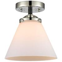 Innovations Lighting 284-1C-BPN-G41-LED Large Cone LED 8 inch Black Polished Nickel Semi-Flush Mount Ceiling Light, Nouveau