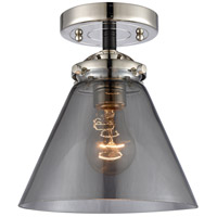 Innovations Lighting 284-1C-BPN-G43 Large Cone 1 Light 8 inch Black Polished Nickel Semi-Flush Mount Ceiling Light Nouveau