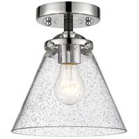 Innovations Lighting 284-1C-BPN-G44 Large Cone 1 Light 8 inch Black Polished Nickel Semi-Flush Mount Ceiling Light Nouveau