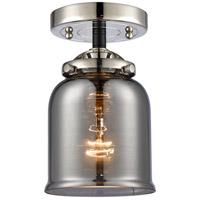 Innovations Lighting 284-1C-BPN-G53-LED Small Bell LED 5 inch Black Polished Nickel Semi-Flush Mount Ceiling Light Nouveau