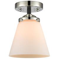 Innovations Lighting 284-1C-BPN-G61 Small Cone 1 Light 6 inch Black Polished Nickel Semi-Flush Mount Ceiling Light Nouveau