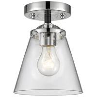 Innovations Lighting 284-1C-BPN-G62 Small Cone 1 Light 6 inch Black Polished Nickel Semi-Flush Mount Ceiling Light Nouveau