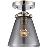 Innovations Lighting 284-1C-BPN-G63-LED Small Cone LED 6 inch Black Polished Nickel Semi-Flush Mount Ceiling Light Nouveau