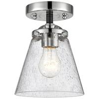 Innovations Lighting 284-1C-BPN-G64 Small Cone 1 Light 6 inch Black Polished Nickel Semi-Flush Mount Ceiling Light Nouveau