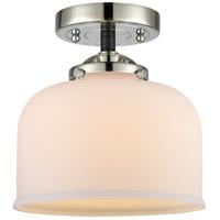 Innovations Lighting 284-1C-BPN-G71 Large Bell 1 Light 8 inch Black Polished Nickel Semi-Flush Mount Ceiling Light Nouveau