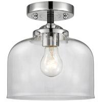 Innovations Lighting 284-1C-BPN-G72 Large Bell 1 Light 8 inch Black Polished Nickel Semi-Flush Mount Ceiling Light Nouveau
