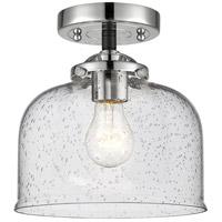 Innovations Lighting 284-1C-BPN-G74 Large Bell 1 Light 8 inch Black Polished Nickel Semi-Flush Mount Ceiling Light Nouveau