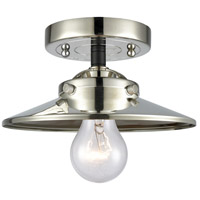 Innovations Lighting 284-1C-BPN-M1-PN Railroad 1 Light 8 inch Black Polished Nickel Semi-Flush Mount Ceiling Light Nouveau