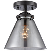 Innovations Lighting 284-1C-OB-G43 Large Cone 1 Light 8 inch Oil Rubbed Bronze Semi-Flush Mount Ceiling Light Nouveau