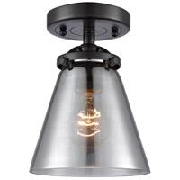 Innovations Lighting 284-1C-OB-G63 Small Cone 1 Light 6 inch Oil Rubbed Bronze Semi-Flush Mount Ceiling Light Nouveau