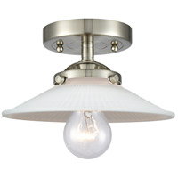 Innovations Lighting 284-1C-SN-G1-LED Halophane LED 9 inch Satin Nickel Semi-Flush Mount Ceiling Light Nouveau