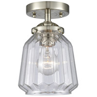 Innovations Lighting 284-1C-SN-G142 Chatham 1 Light 6 inch Satin Nickel Semi-Flush Mount Ceiling Light Nouveau