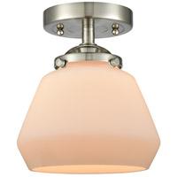 Innovations Lighting 284-1C-SN-G171 Fulton 1 Light 7 inch Satin Nickel Semi-Flush Mount Ceiling Light Nouveau