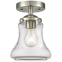 Innovations Lighting 284-1C-SN-G192-LED Bellmont LED 6 inch Satin Nickel Semi-Flush Mount Ceiling Light Nouveau