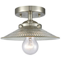 Innovations Lighting 284-1C-SN-G2-LED Halophane LED 9 inch Satin Nickel Semi-Flush Mount Ceiling Light Nouveau
