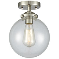 Innovations Lighting 284-1C-SN-G202-8-LED Large Beacon LED 8 inch Satin Nickel Semi-Flush Mount Ceiling Light Nouveau