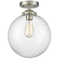 Innovations Lighting 284-1C-SN-G204-10 X-Large Beacon 1 Light 10 inch Brushed Satin Nickel Semi-Flush Mount Ceiling Light Nouveau