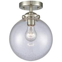 Innovations Lighting 284-1C-SN-G204-8 Large Beacon 1 Light 8 inch Brushed Satin Nickel Semi-Flush Mount Ceiling Light Nouveau