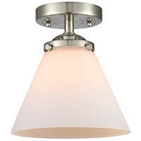 Innovations Lighting 284-1C-SN-G41-LED Large Cone LED 8 inch Satin Nickel Semi-Flush Mount Ceiling Light Nouveau