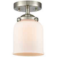 Innovations Lighting 284-1C-SN-G51-LED Small Bell LED 5 inch Satin Nickel Semi-Flush Mount Ceiling Light Nouveau