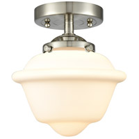 Innovations Lighting 284-1C-SN-G531-LED Small Oxford LED 8 inch Satin Nickel Semi-Flush Mount Ceiling Light Nouveau