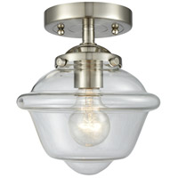 Innovations Lighting 284-1C-SN-G532 Small Oxford 1 Light 8 inch Satin Nickel Semi-Flush Mount Ceiling Light Nouveau
