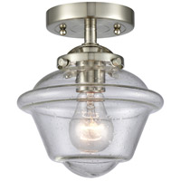 Innovations Lighting 284-1C-SN-G534-LED Small Oxford LED 8 inch Satin Nickel Semi-Flush Mount Ceiling Light Nouveau