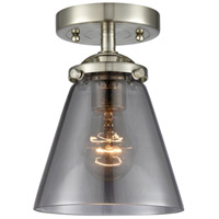 Innovations Lighting 284-1C-SN-G63-LED Small Cone LED 6 inch Satin Nickel Semi-Flush Mount Ceiling Light Nouveau
