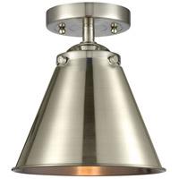 Innovations Lighting 284-1C-SN-M13-SN Appalachian 1 Light 8 inch Satin Nickel Semi-Flush Mount Ceiling Light Nouveau
