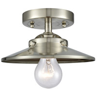 Innovations Lighting 284-1C-SN-M2-SN Railroad 1 Light 8 inch Satin Nickel Semi-Flush Mount Ceiling Light, Nouveau
