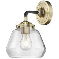 Innovations Lighting 284-1W-BAB-G1 Halophane 1 Light 17 inch Black Antique Brass Sconce Wall Light Nouveau