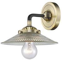 Innovations Lighting 284-1W-BAB-G2 Halophane 1 Light 9 inch Black Antique Brass Sconce Wall Light Nouveau