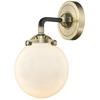 Innovations Lighting 284-1W-BAB-G201-6-LED Beacon LED 6 inch Black Antique Brass Sconce Wall Light Nouveau