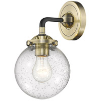 Innovations Lighting 284-1W-BAB-G204 Baldwin 1 Light 6 inch Black and Antique Brass Wall Sconce Wall Light