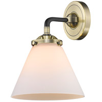Innovations Lighting 284-1W-BAB-G41-LED Large Cone LED 8 inch Black Antique Brass Sconce Wall Light Nouveau
