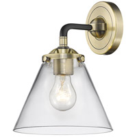 Innovations Lighting 284-1W-BAB-G42-LED Large Cone LED 8 inch Black Antique Brass Sconce Wall Light Nouveau