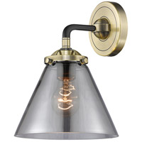 Innovations Lighting 284-1W-BAB-G43 Large Cone 1 Light 8 inch Black Antique Brass Sconce Wall Light Nouveau