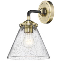 Innovations Lighting 284-1W-BAB-G44-LED Large Cone LED 16 inch Black Antique Brass Sconce Wall Light Nouveau